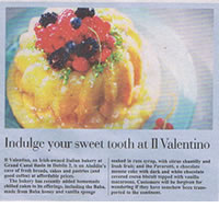Indulge your sweeth tooth at Il Valentino